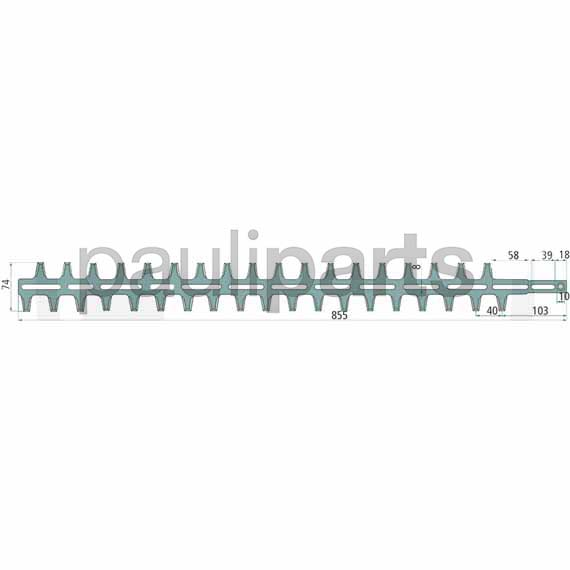 Heckenschere 750 mm Stihl Messer f Heckenscherenmesser 4226 710 6061