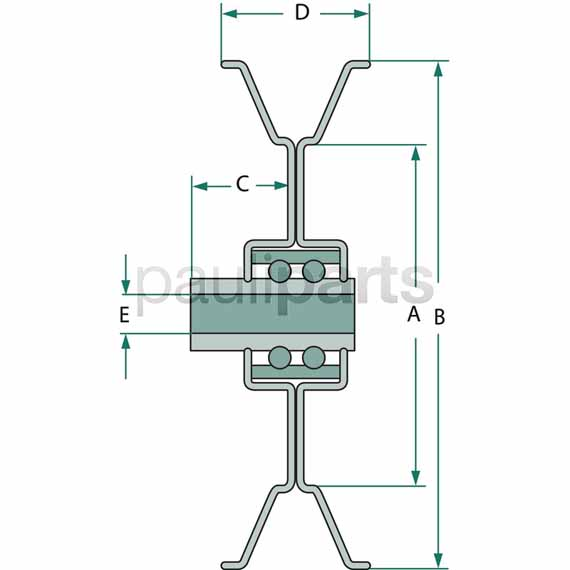 Außendurchmesser 114,3 mm LT 170 LT 166 LT 170 John Deere Keilriemenscheibe