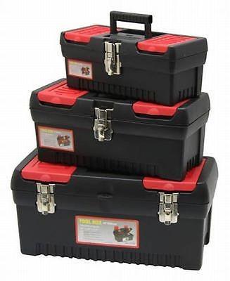 Werkzeug Koffer Set, Werkzeugkoffer, 3 teilig, Werkzeugbox,
