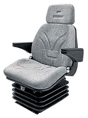 Sitz, Komfortsitz, luftgefedert, Schlepper Landmaschinen, Stoff Bezug, 12 V,