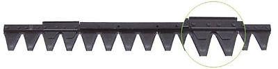 ESM Messerbalken Mähmesser komplett für Balkenmäher, 660 mm, ESM-Nr.: 2480660
