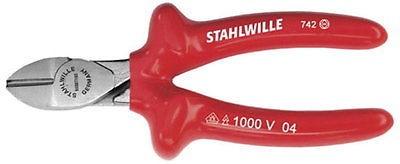 Stahlwille VDE Seitenschneider, Zange verchromt, 140 mm, Griff tauchisoliert