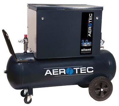AEROTEC Druckluft Kompressor SUPER SILENT 90, Kolbenkompressor, 90 Liter, 10 bar