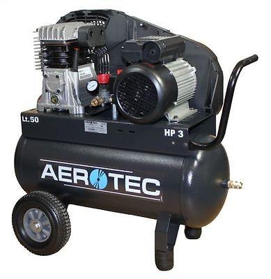 AEROTEC Druckluft Kompressor 420-50, Kolbenkompressor, 50 Liter, 10 bar
