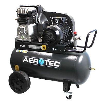 AEROTEC Druckluft Kompressor 650-90, Kolbenkompressor, 90 Liter 15 bar 400V