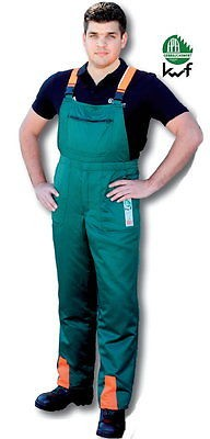 Schnittschutz Latzhose Schnittschutzhose EN 381 Form A FPA anerkannt Größe: 48
