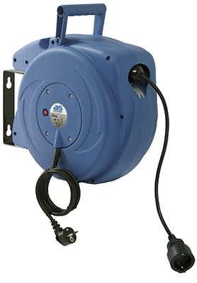 Automatischer Kabelaufroller, Kabeltrommel, 250V / 16 A, 15 Meter, 3x1 mm²