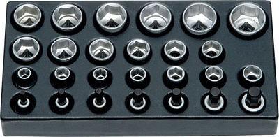 """Granit Werkzeug Einlage, 1/2"""" Steckschlüssel und Innensechskant, 26 tlg."""