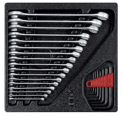 Granit Werkzeug Einlage, Ring - Maulschlüssel Satz 25 tlg., Ringschlüssel