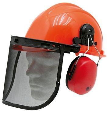 Forsthelm Kombination, Schutzhelm, Helm, mit Gehörschutz und Gesichtsschutz