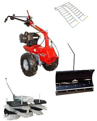 Eurosystems Schneeräumer Schneeschild 100 cm & Kehrmaschine B&S Motor M 250