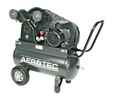 AEROTEC Druckluft Kompressor 450-50 CT 3, Kolbenkompressor, 50 Liter 10 bar 230V