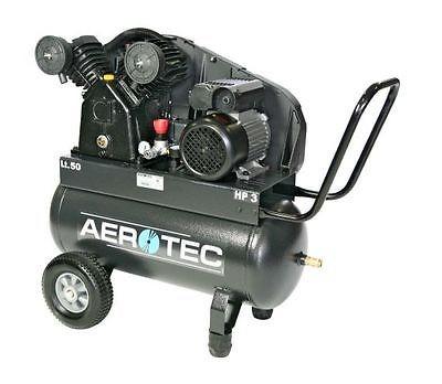 AEROTEC Druckluft Kompressor 450-50 CT 4, Kolbenkompressor, 50 Liter 10 bar 400V