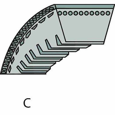 Vibrationsplatte Keilriemen 129814, 0129814 Wacker BPU 3545 A, 4045 A, 5545 A,