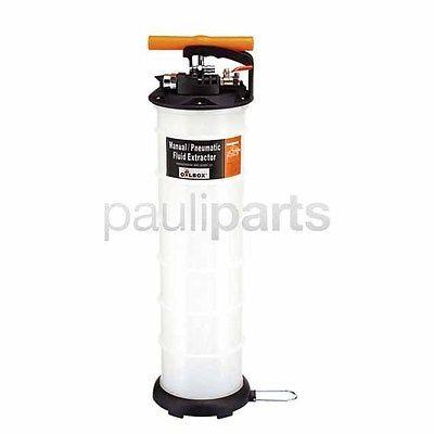 Ölabsaugpumpe, Ölabsaug Pumpe Manuell und Pneumatisch 6,5 Liter inkl. 3 Sonden