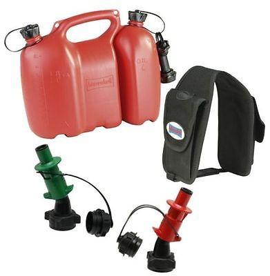 Profi Doppelkanister mit Satteltasche und 2 Ausgießern, Einfüllsystem