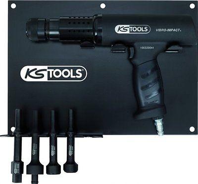 KS TOOLS 515.3880 Vibro Power Druckluft Meißelhammer Satz, 6 tlg. 2200 Schl./min