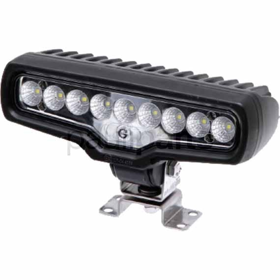 Arbeitsscheinwerfer LED, Scheinwerfer, 11,5-33 V, 44 W, 2-polig, 199x87x72 mm