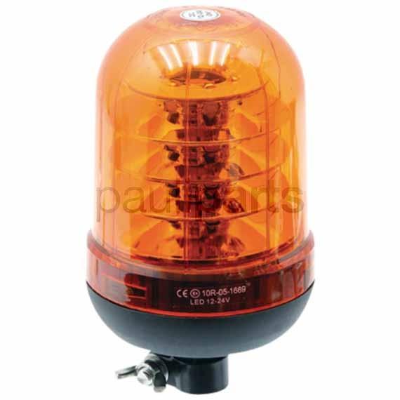 Rundumkennleuchte LED, 12/24 Volt mit Rohrstutzenbefestigung für Aufsteckrohr
