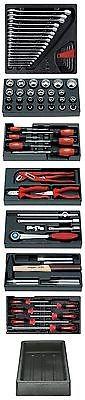 Granit Werkzeug Einlagen, Modulsatz, Zange, Hammer, Ratsche, Schlüssel, 80 tlg.