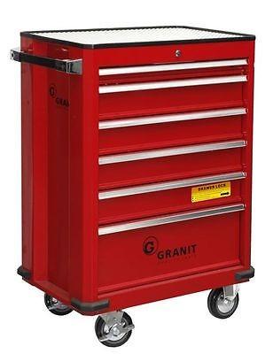 Granit Profi Werkstattwagen, mit Vollauszug, Werkzeugwagen, 6 Schubladen