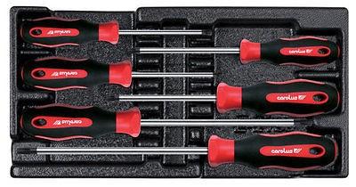 Granit Werkzeug Einlage, Schraubendreher, Schraubenzieher Satz TX, 6 tlg.