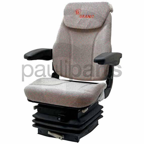 Sitz, Komfortsitz, luftgefedert, mit Drehplatte, Schlepper, Stoff Bezug, 12 V,